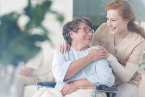 Patient spending time with caregiver